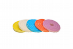 "Buffing Wheels,  6"" x 1/2"", Triple Stitched, Set x 5, Lilac, Orange, Blue, White, Yellow. X8138"